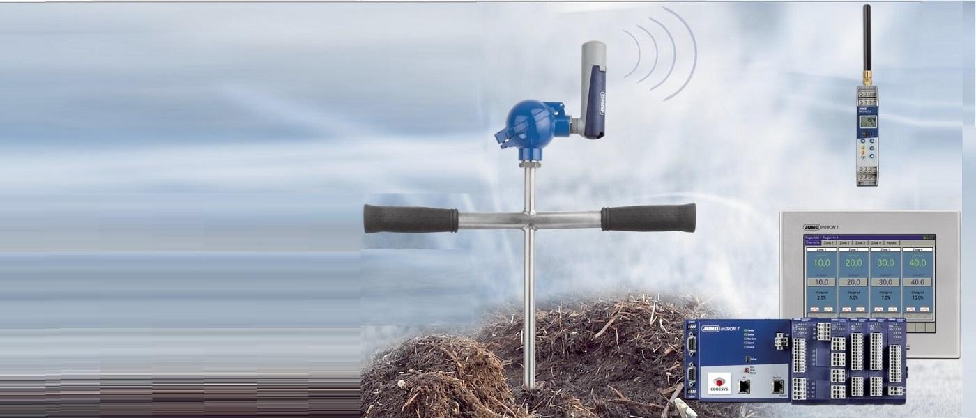 Автоматично документиране и мониториране на процеси по компостиране с цялостни технически решения на JUMO